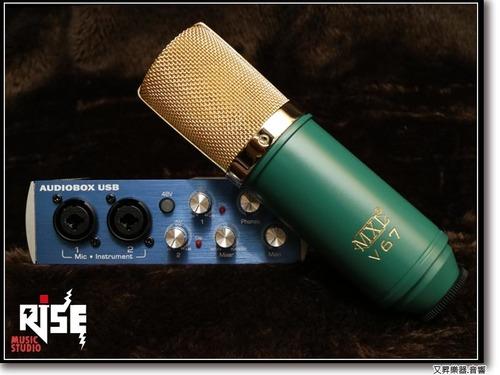 超值推薦 Presonus Audio Box & MXL V67G 電容式麥克風 錄音套組