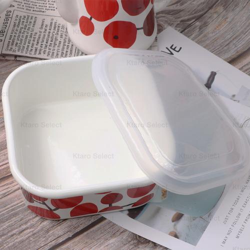 【豐琺瑯】Plune 琺瑯方形儲存盒 L 1000ml