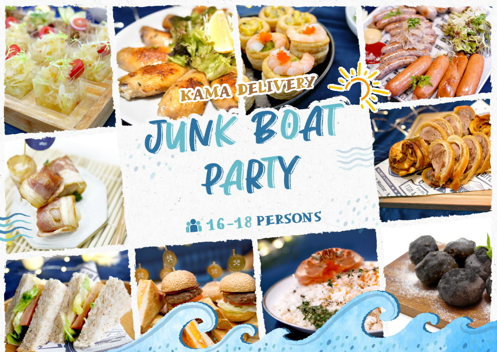 Junk Boat Party Set (For 16-18 Persons)|Kama Delivery