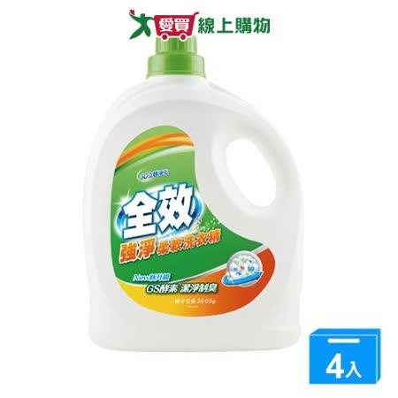 毛寶全效強淨洗衣精3.5L*4入(箱)|2020年最推薦的品牌都在friDay購物