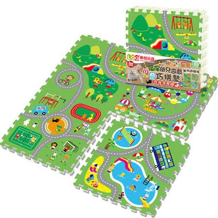 【LOG樂格】環保遊戲巧拼地墊 -動物遊樂園 (60x60cmx4片) 2020年最推薦的品牌都在friDay購物