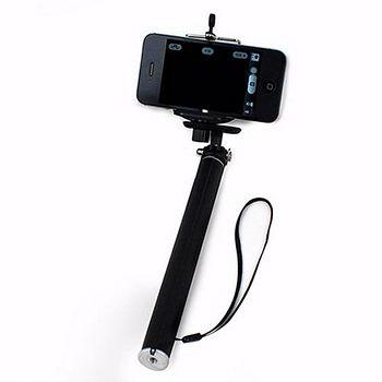 K-T300 數位相機/手機 兩用 四段伸縮自拍架-黑色 .. -friDay購物