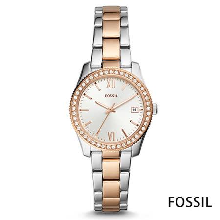 FOSSIL 輕奢華晶漾雙色不鏽鋼女錶(ES4372)-32mm 2020年最推薦的品牌都在friDay購物