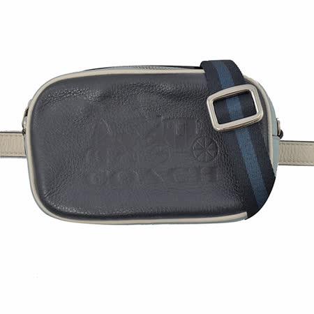COACH 大馬車LOGO 撞色雙背帶三用腰包.深藍|2019年最推薦的品牌都在friDay購物