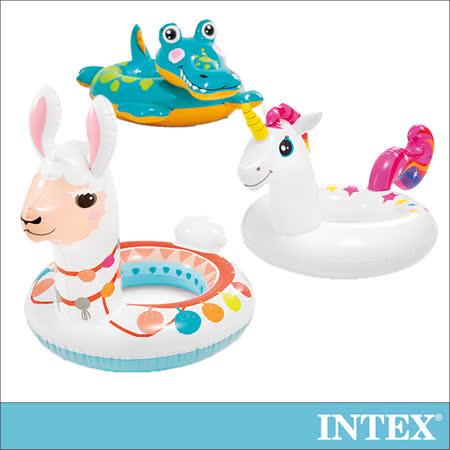 【INTEX】造型游泳圈-獨角獸/羊駝/鱷魚_適用3-6歲(58221)|2019年最推薦的品牌都在friDay購物
