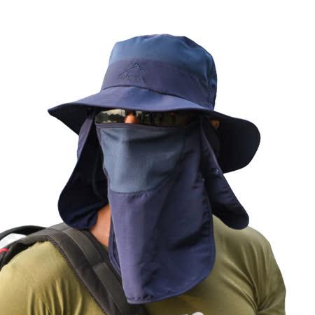 PUSH!戶外用品防曬帽子男遮陽帽漁夫帽釣魚透氣太陽帽遮臉帽H34|2020年最推薦的品牌都在friDay購物