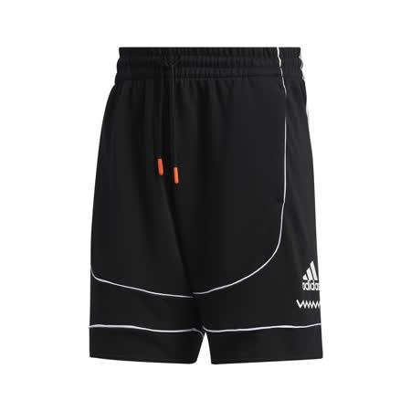 adidas 短褲 D.O.N. Issue #2 男款 愛迪達 米契爾 籃球 膝上 運動 黑 白 FR5741 FR5741-friDay購物