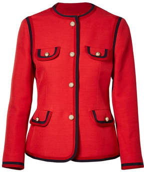 Gucci – Faux Pearl-embellished Wool And Silk-blend Jacket – Red