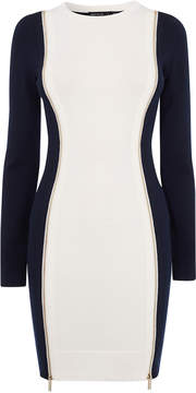 Karen Millen contrast bodycon dress