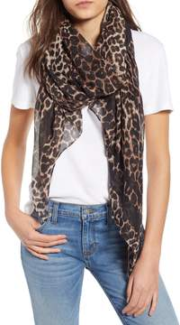 Leopard Print Oblong Scarf