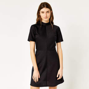 Pinstripe Ponte Shift Dress