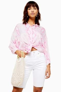 Pink Snakeskin Shirt