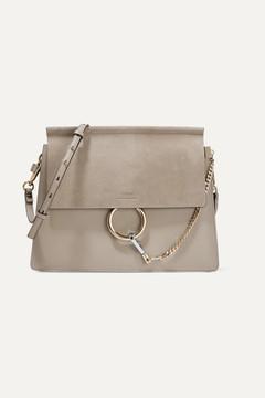 Chloe Faye Medium Leather And Suede Shoulder Bag
