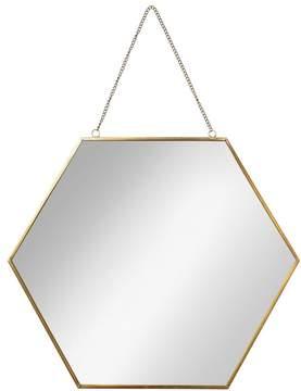 Large Gold Hexagon Mirror