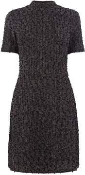 Warehouse Mono Tweed Boucle Dress