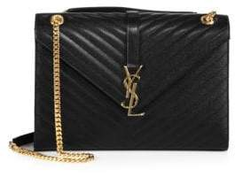 Saint Laurent Large Monogram Matelasse Leather Chain Shoulder Bag