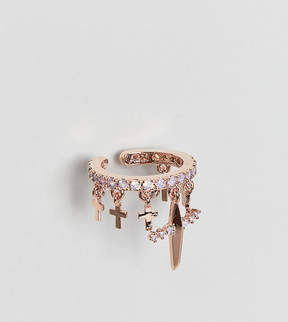 Astrid & Miyu 18ct Rose Gold Ear Cuff