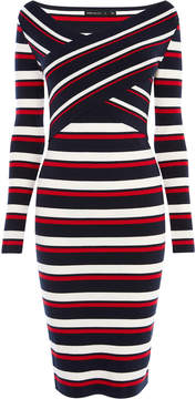 Karen Millen striped midi dress