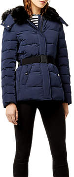 Warehouse Belted Wadded Coat