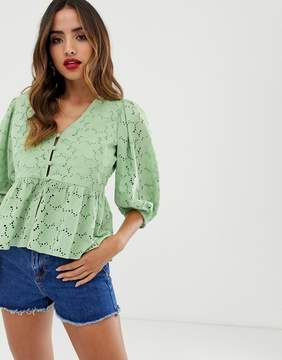 Pale Green Tea Blouse