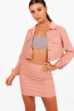 Boohoo Cropped Jacket Set
