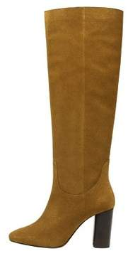 Tan Suede long boots