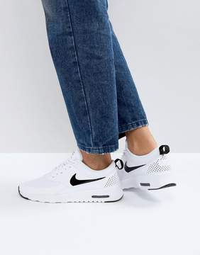 Nike Air Max Thea Trainers In White And Black