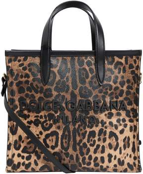 Dolce and Gabbana leopard tote bag