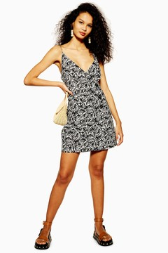 Linen Blend Button Matisse Mini Dress