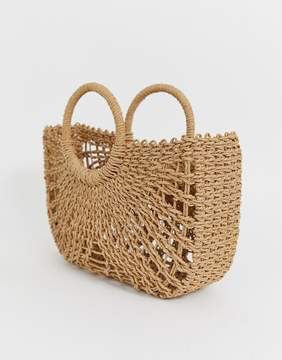 Open weave basket bag £25
