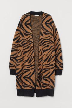 Tiger print cardigan