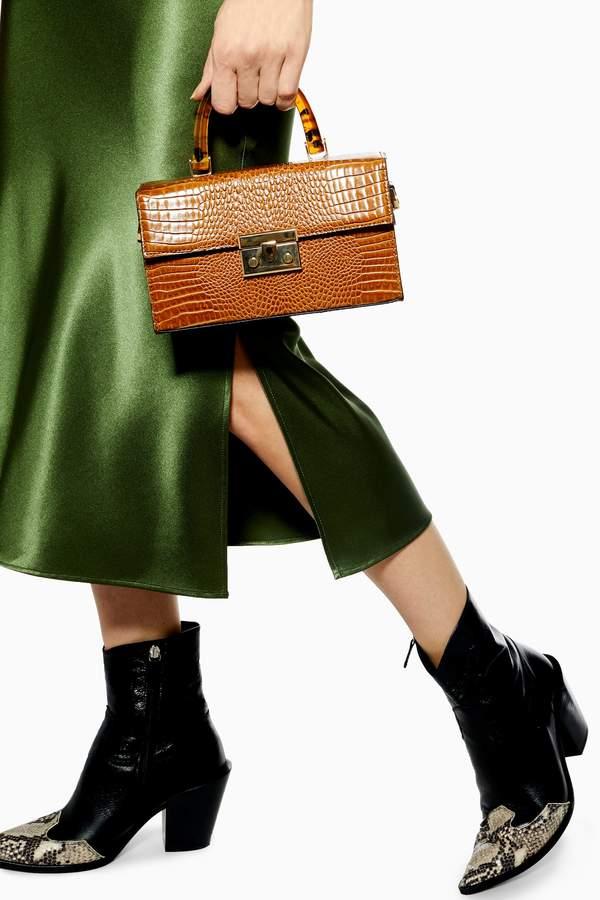 Topshop Womens Cannes Boxy Grab Bag - Brown