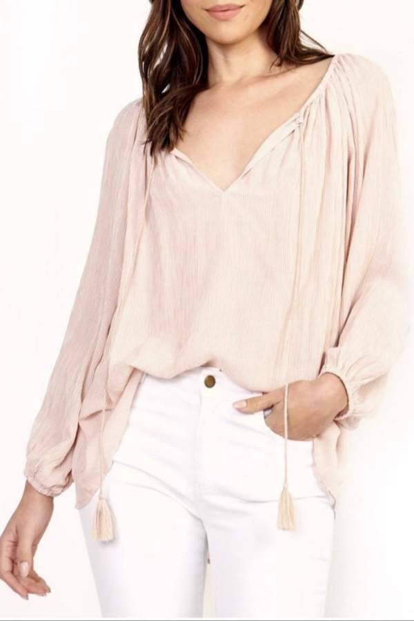 Olivaceous Pink Boho Top