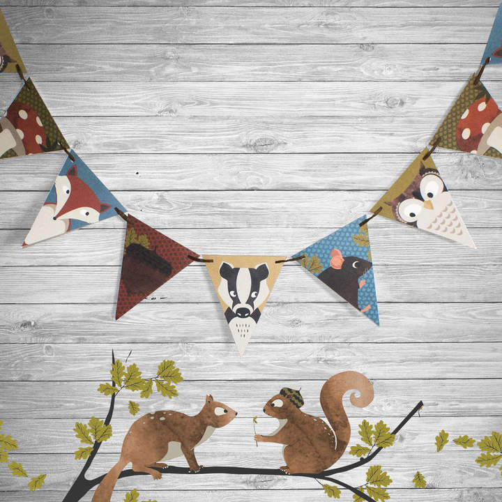 Marvellous Cat Woodland Party Bunting