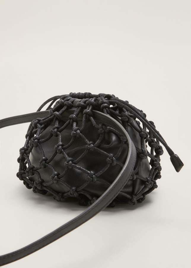 Net crossbody belt bag