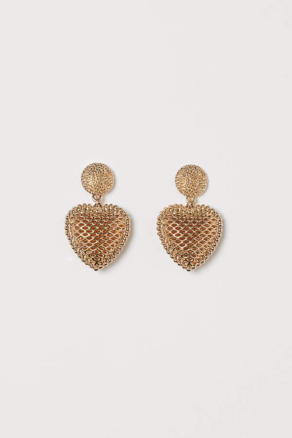H&M Heart-shaped earrings