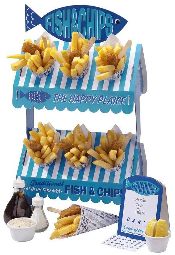 Postbox Party Seaside Fish And Chips Snack Stand