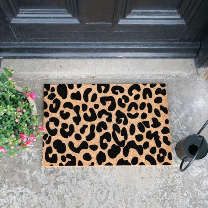 Natural Leopard Print Doormat