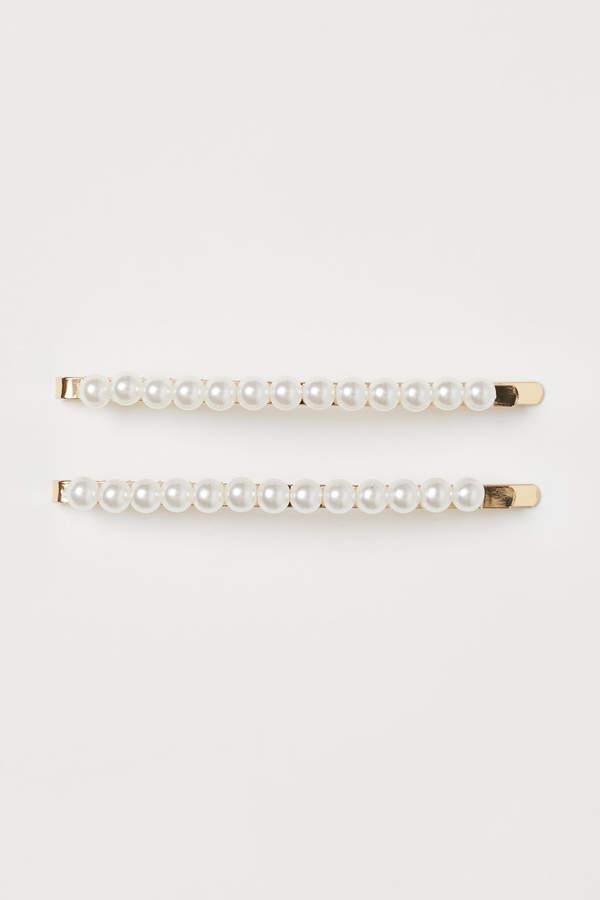 H&M - 2-pack Hair Clips - White