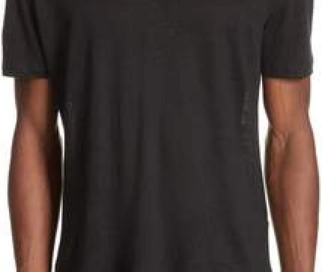 John Varvatos Linen Crewneck T Shirt