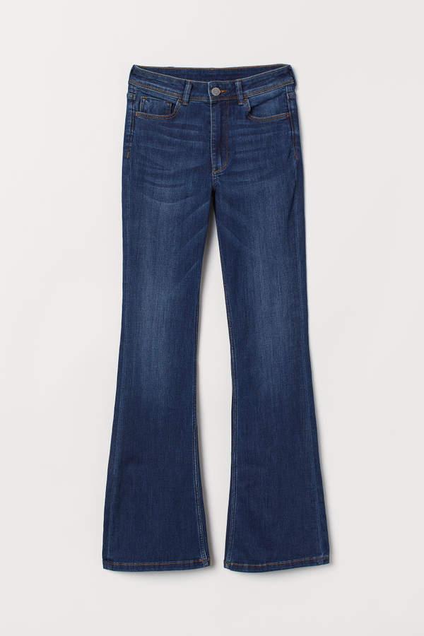 H&M - Mini Flare High Jeans - Blue