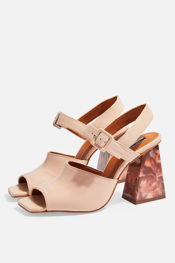 ROSE Marble Heeled Sandals