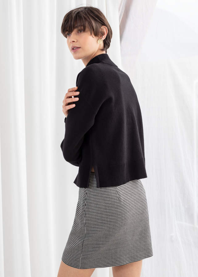And other stories Wool Blend Mock Neck Sweater