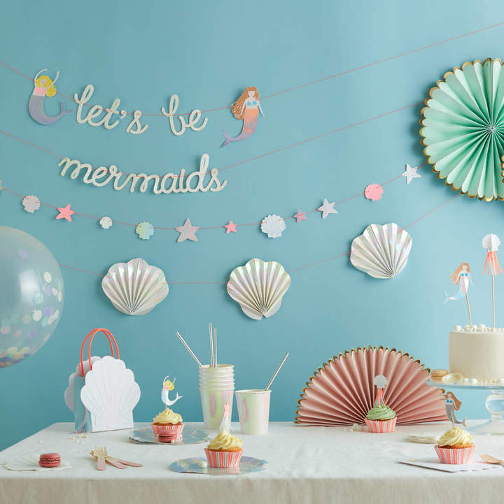 Little Baby Company Let's Be Mermaid Party Tableware