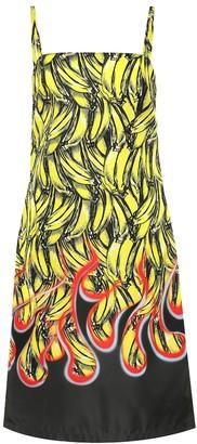 banana print dress shopstyle