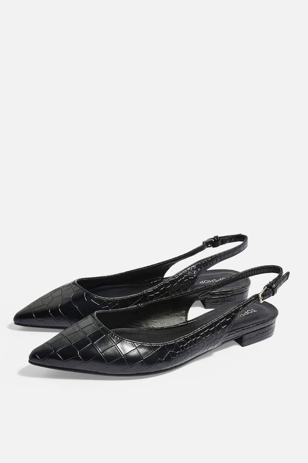 Topshop Womens Ally Slingback Point Shoes - Black.