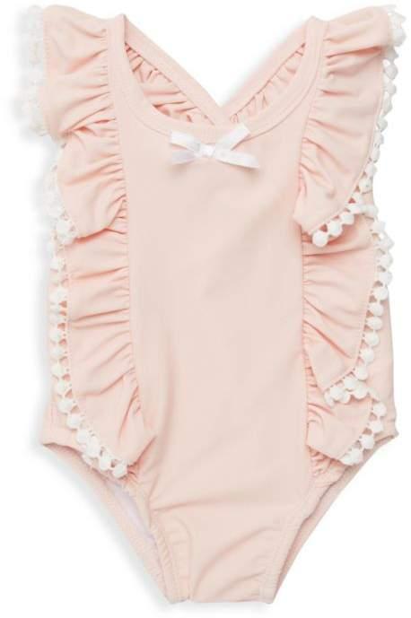 Miniclasix Baby Girl's Ruffled Swimsuit