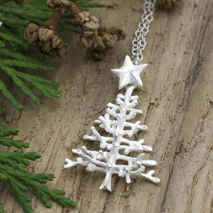 Martha Jackson Sterling Silver Sterling Silver Christmas Tree Necklace