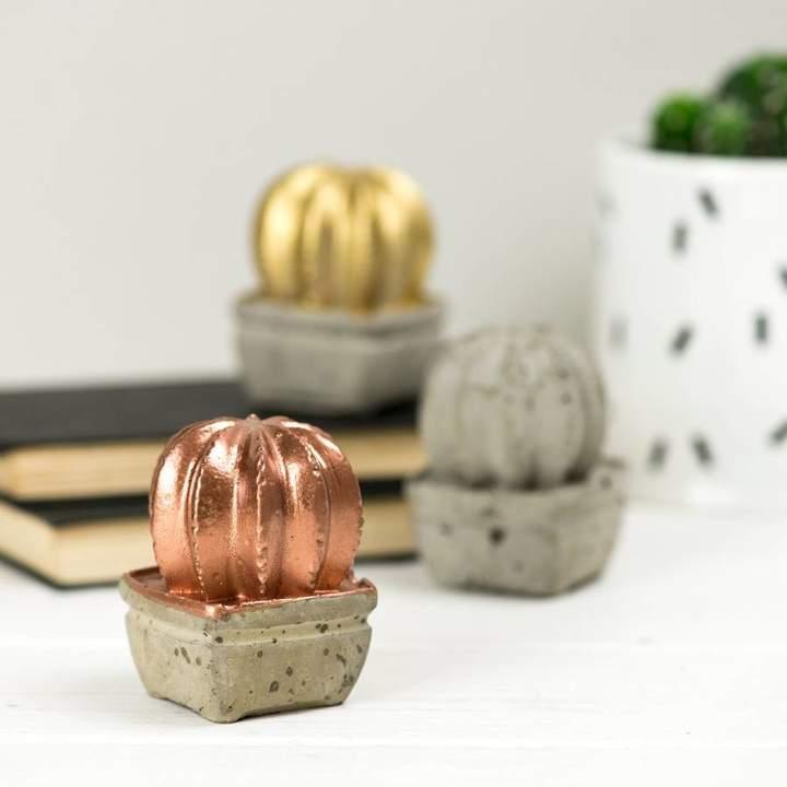 Bells and Whistles Make Mini Concrete Cactus