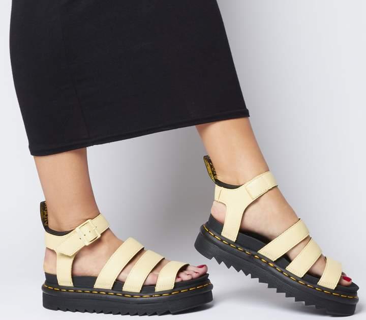 Dr. Martens Blaire Sandals Pastel Yellow
